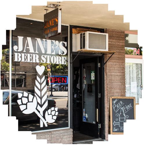 Jane's Beer Storefront